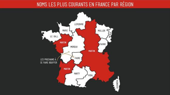 noms lesplus courants en France