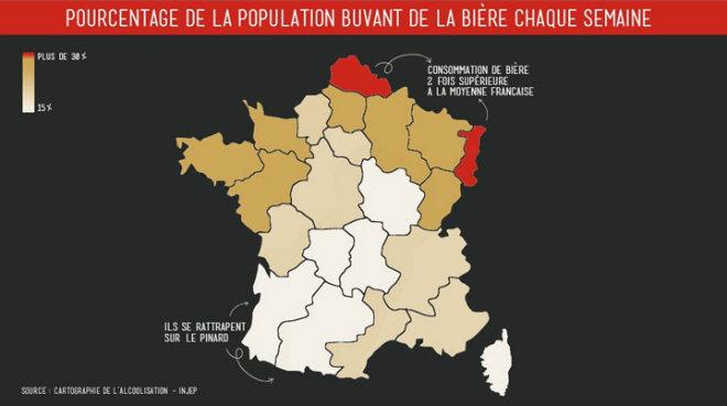 pourcentage population française buvant biere