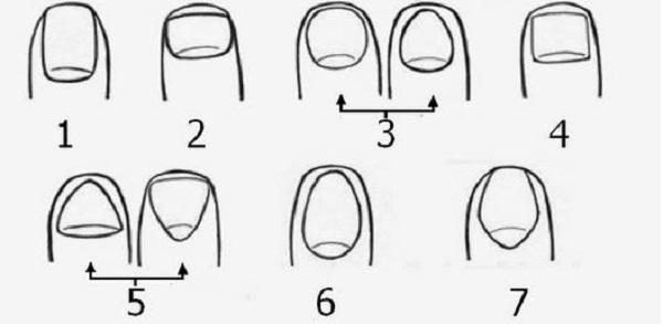 La forme de vos ongles r v le votre personnalit d couvrez la v tre - Forme des ongles ...