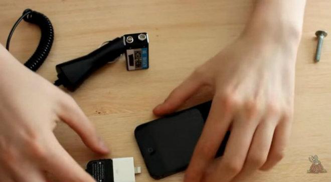 recharger smartphone avec pile