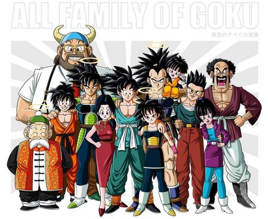 famille son goku