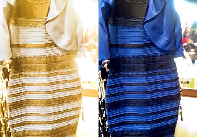 robe bleue ou doree