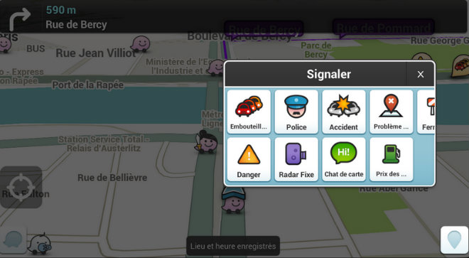 waze coyote forces de police