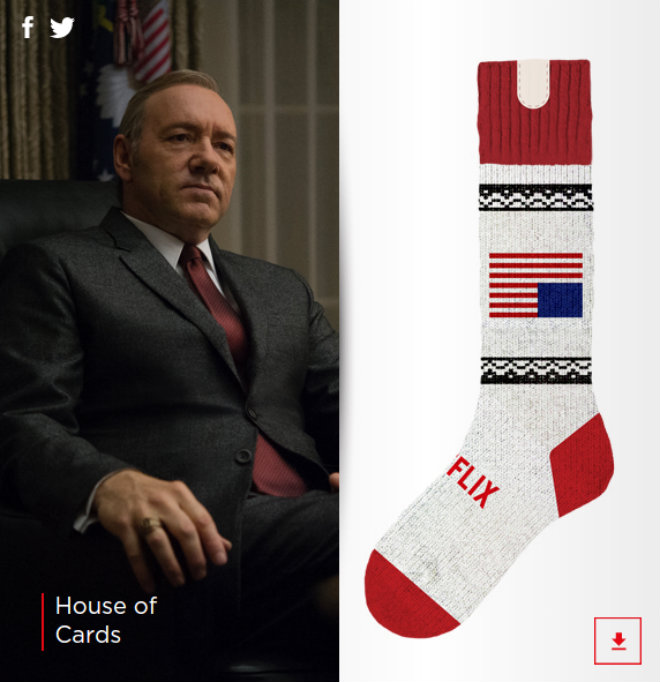 chaussette netflix house of cards