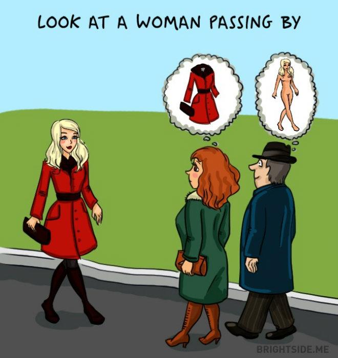 homme femme vision autre