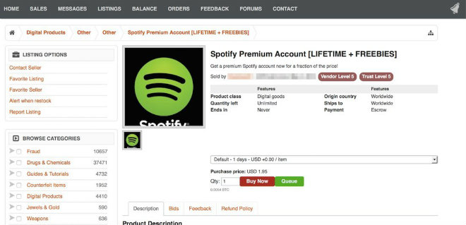 spotify hackers abonnements