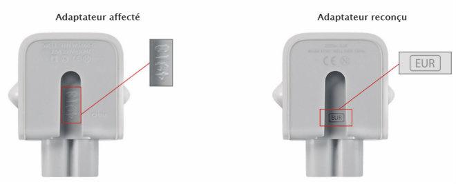 apple adaptateur verification