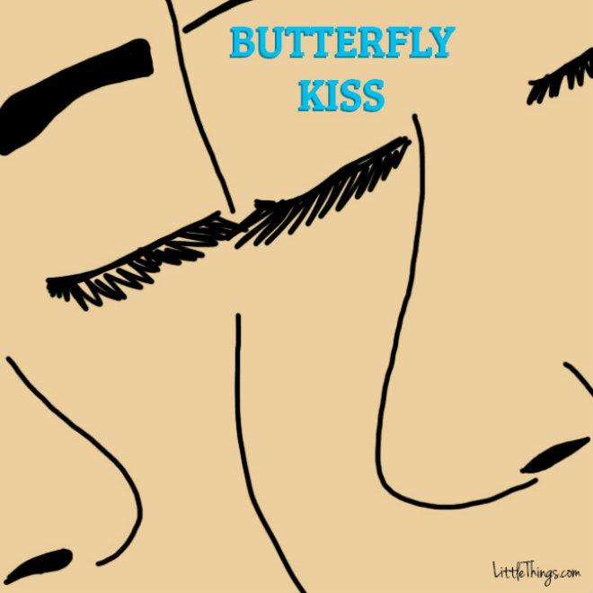 bisous papillon