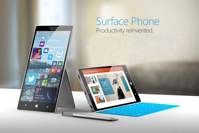 Un concept du Surface Phone