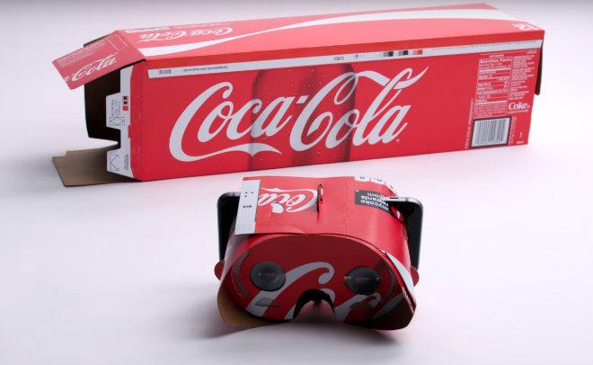 coca cola realite virtuelle cardboard