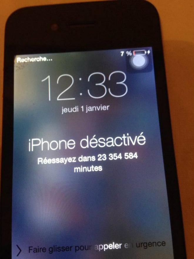 iphone verouillé 45 ans