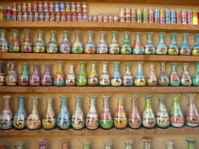 bouteilles sable
