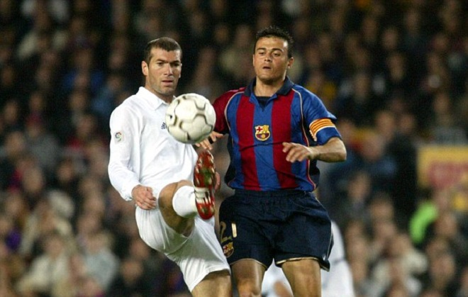Zidane contre Luis Enrique