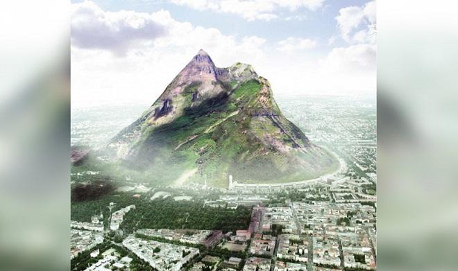 montagne artificielle eau