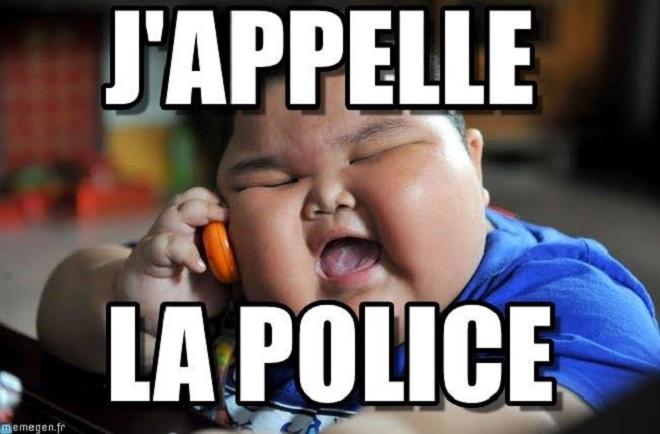 voisin appelle police