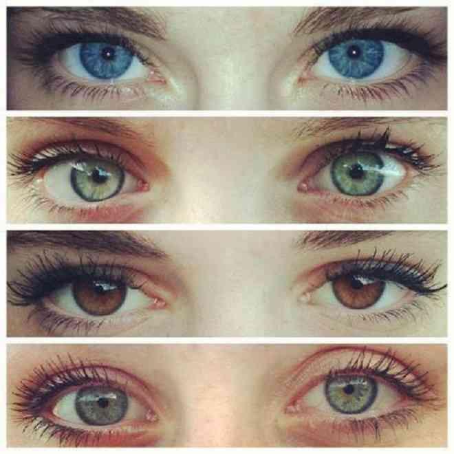 différentes couleur yeux