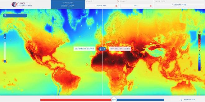 previsions nasa climat 2100