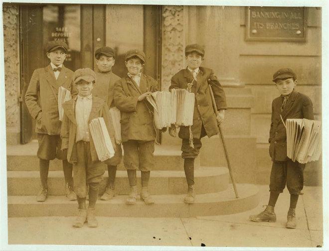 enfants vendeurs journeaux