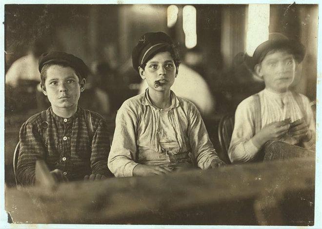 garçons fabricants cigares