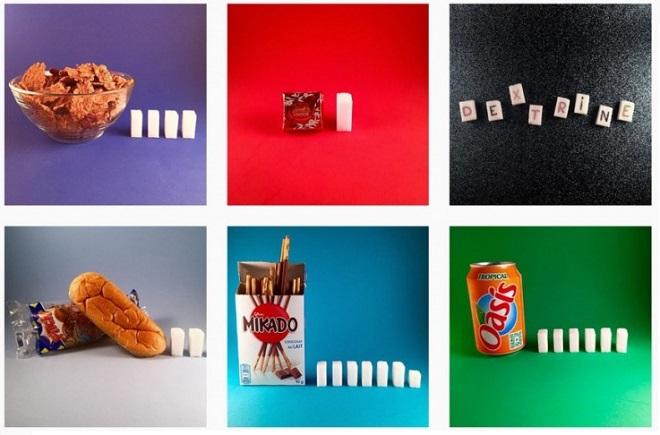 un compte instagram montre la quantit de sucre pr sente dans nos aliments du quotidien. Black Bedroom Furniture Sets. Home Design Ideas