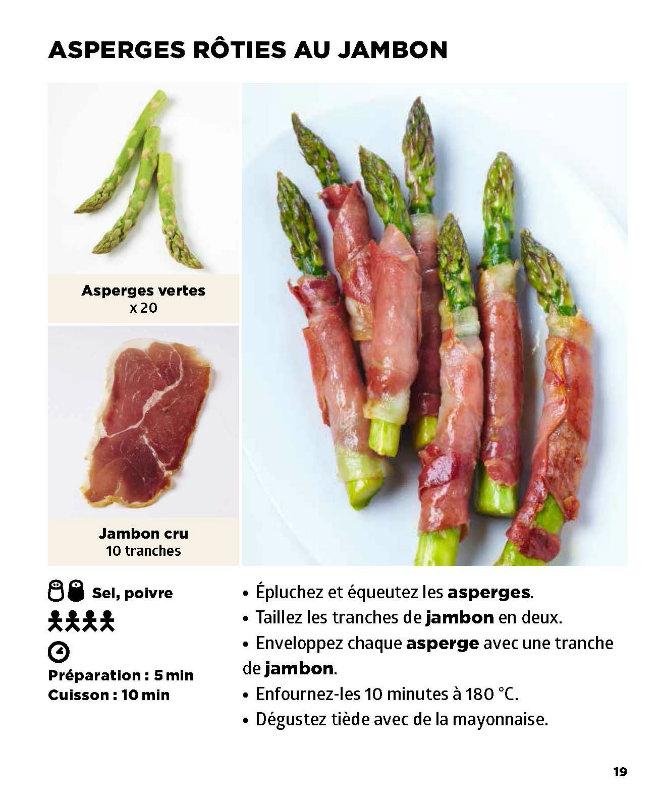 asperges roties jambon recette
