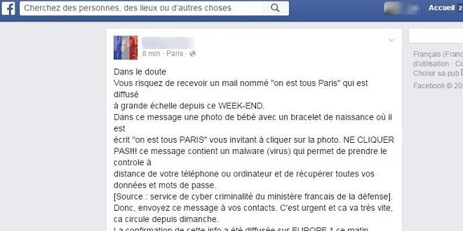 mail fake attentats paris