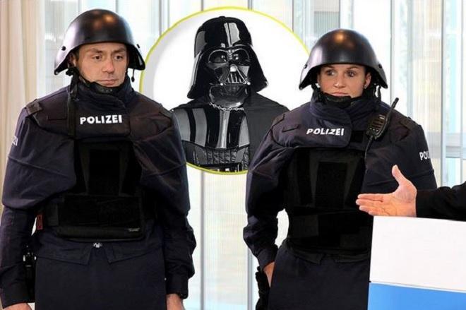 police allemande dark vador