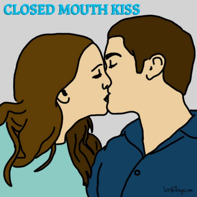 baiser bouche fermee