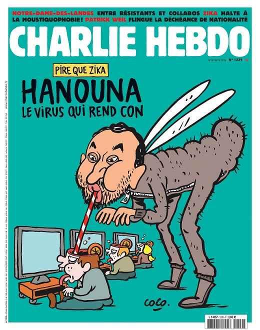 charlie hebdo caricature cyril hanouna