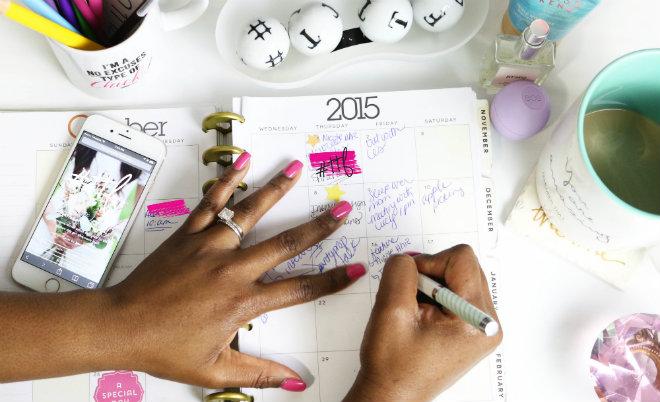 taches quotidiennes agenda planning