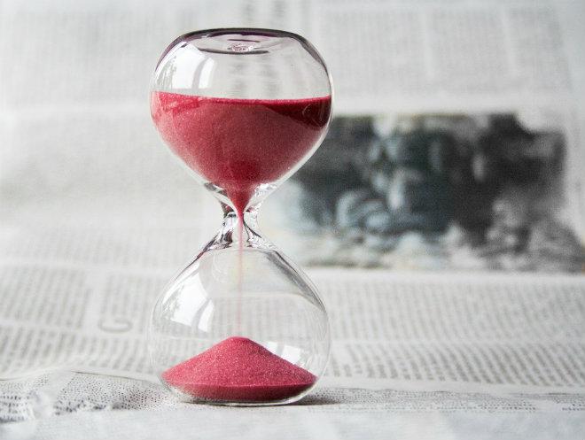 temps qui passe sablier