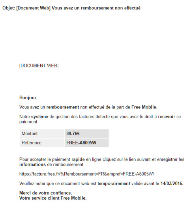 freemobile phishing
