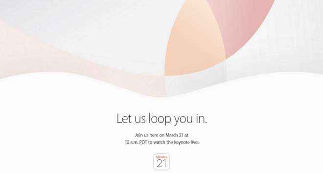 Keynote apple 21 mars 2016