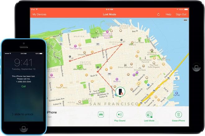 Localiser iPhone sur une carte