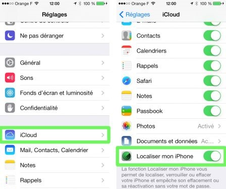 Activer Localiser mon iPhone