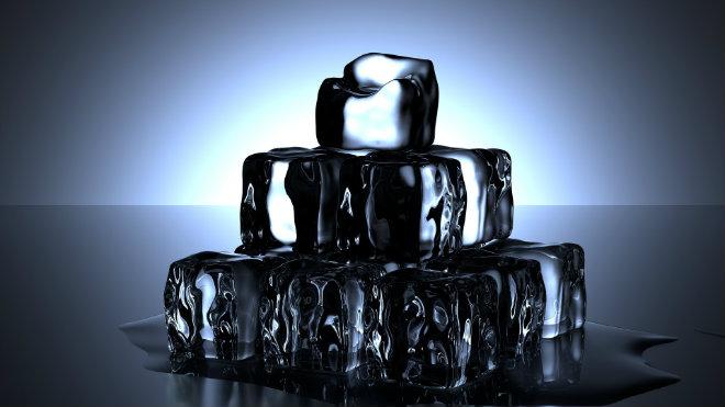 glace ventre plat