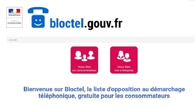 bloctel non au demarchage telephonique