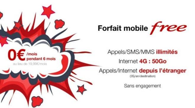 forfait free mobile gratuit